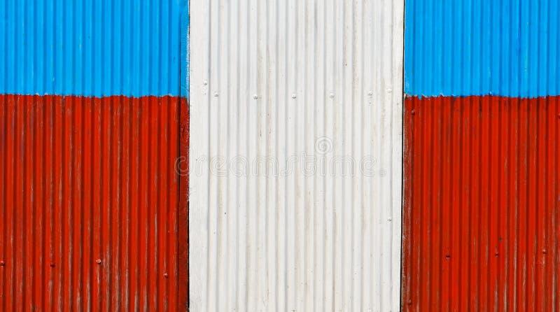 五颜六色使墙壁成波状 库存图片