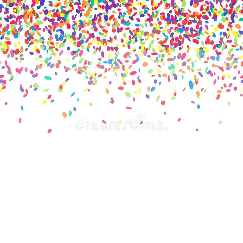 背景五颜六色的五彩纸屑 库存例证