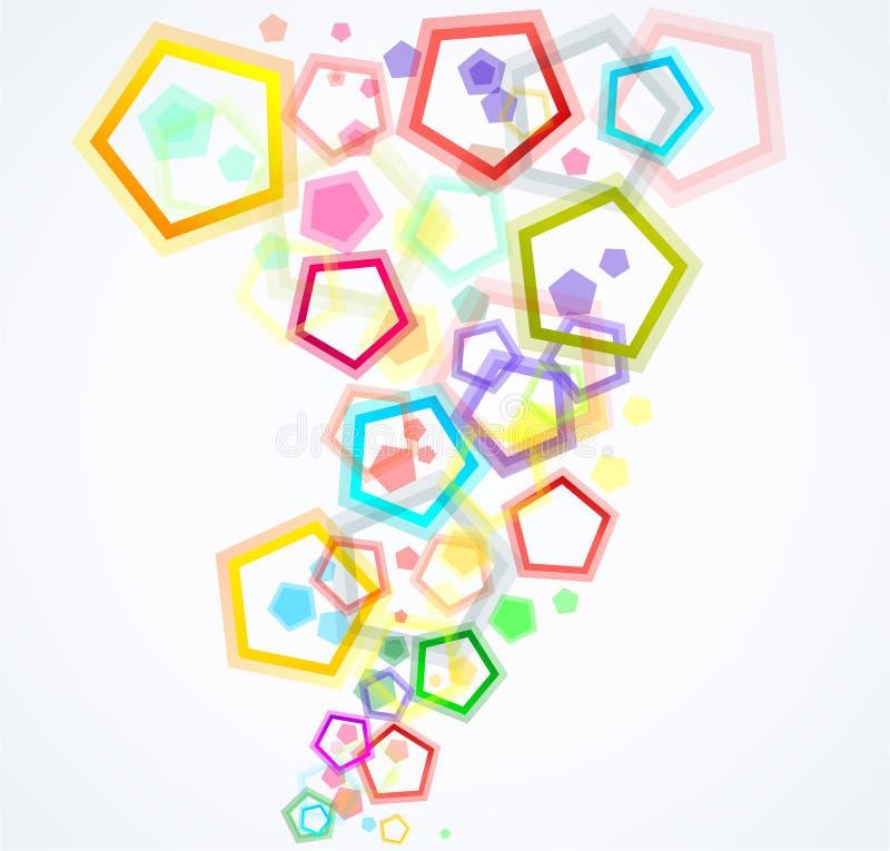 背景五颜六色的五边形 向量例证