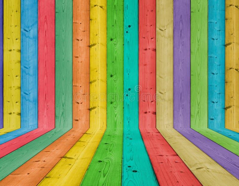 背景五颜六色的木头 免版税图库摄影