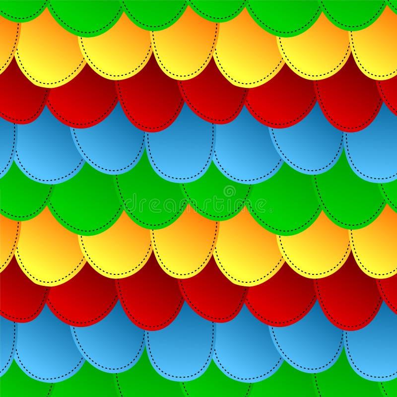 背景五颜六色的模式称无缝 向量例证