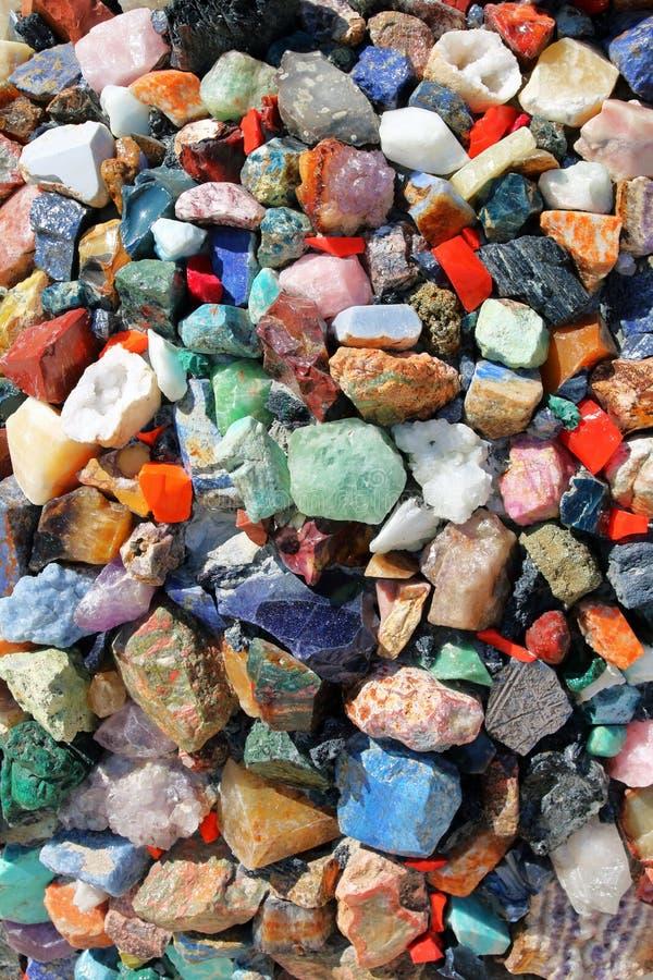 背景五颜六色的石头 库存图片