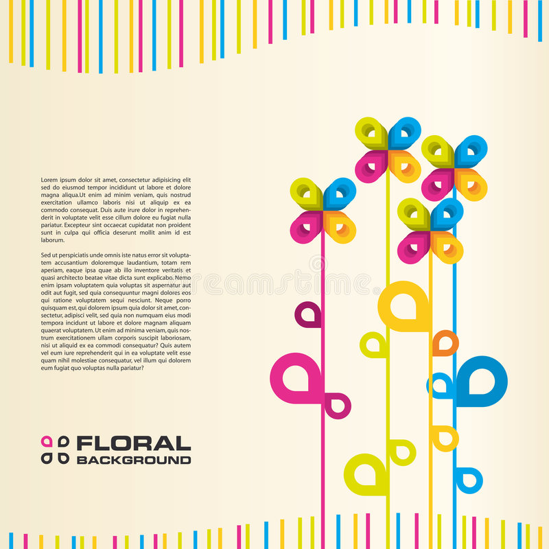 背景五颜六色的花卉向量 向量例证