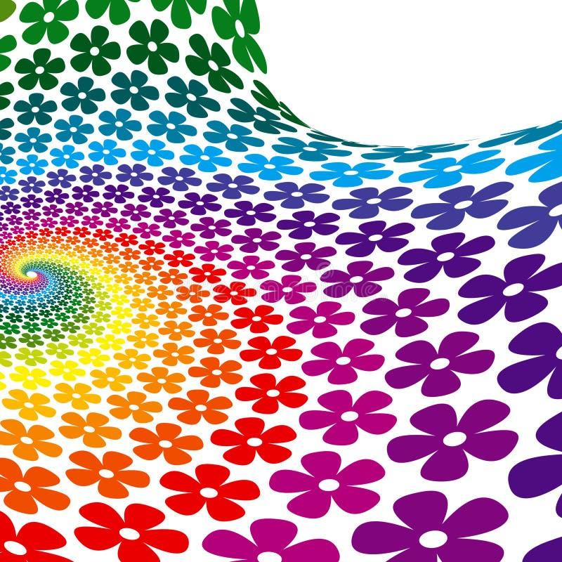 背景五颜六色的花螺旋 向量例证