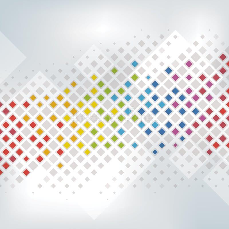 背景五颜六色的象素 向量例证