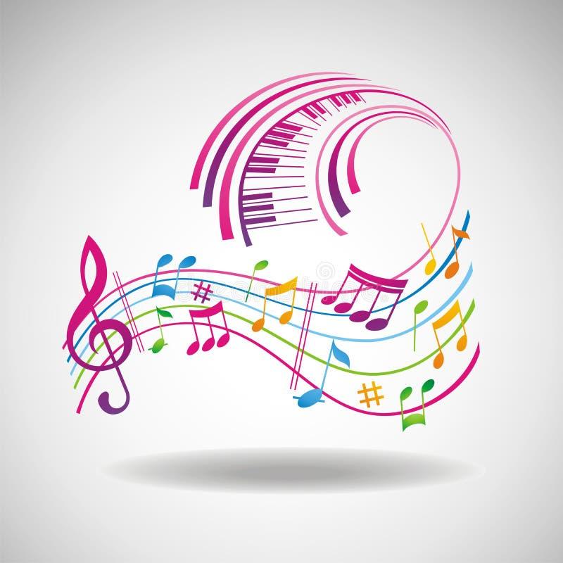 背景五颜六色的音乐 皇族释放例证