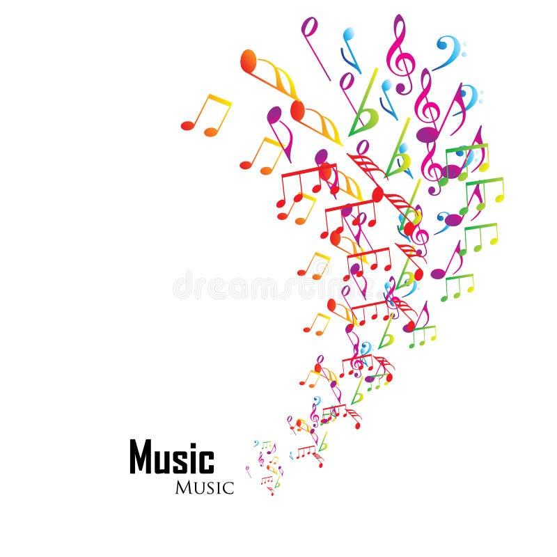 背景五颜六色的音乐 向量例证