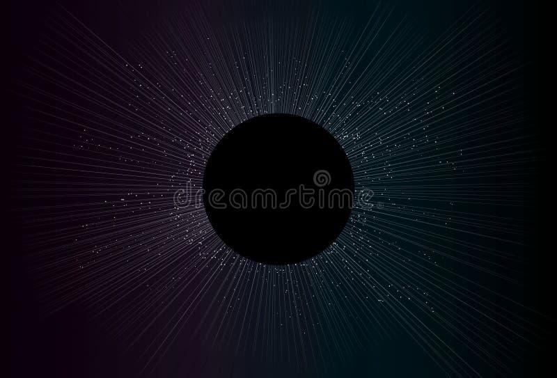 背景五颜六色的黑暗的蚀星形 库存例证