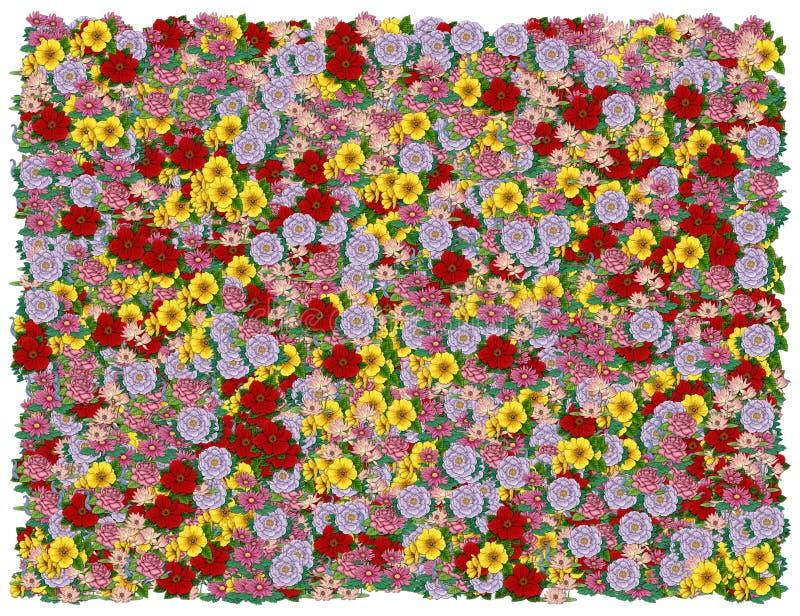背景产生颜色花卉 向量例证