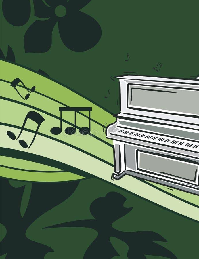 背景仪器音乐 库存例证
