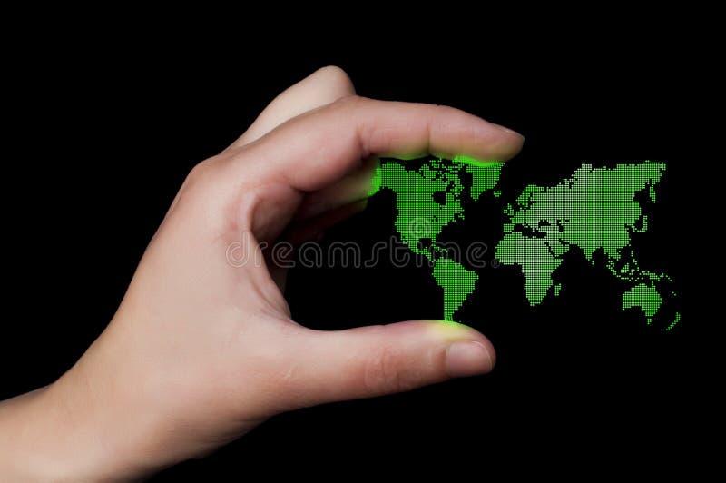 背景企业小点映射世界 免版税库存图片