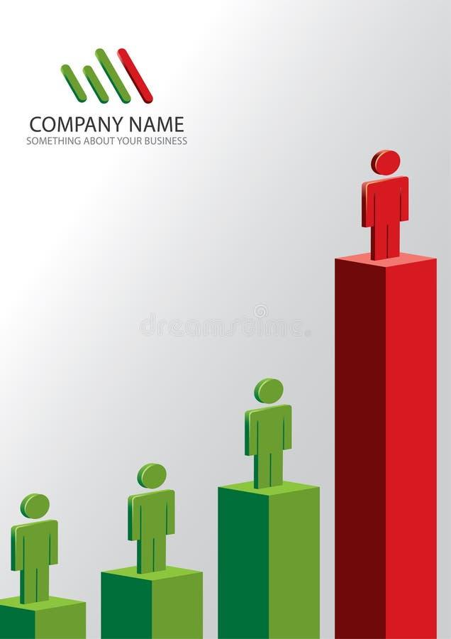 背景企业总公司模板 皇族释放例证