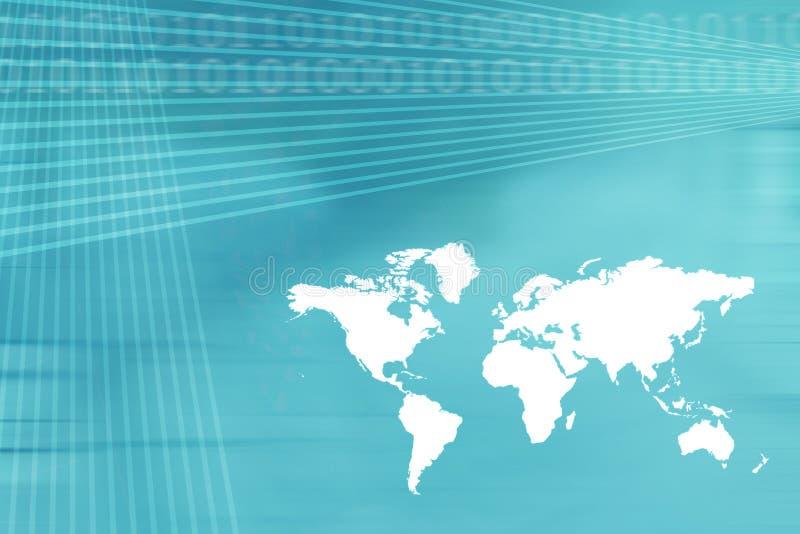 背景企业映射世界 库存例证