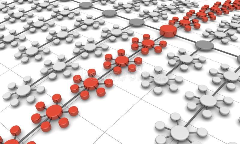 背景企业概念网络结构 库存例证
