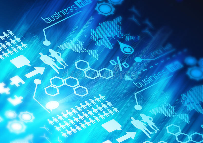 背景企业网络 向量例证