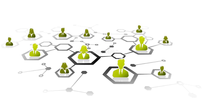 背景企业网络白色 向量例证
