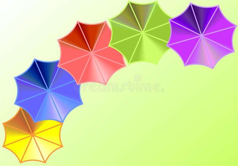 背景伞 向量例证