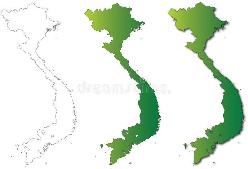背景例证映射集合越南白色 免版税库存图片
