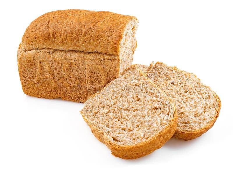 背景做面包的粮谷大面包空白全部 免版税库存照片