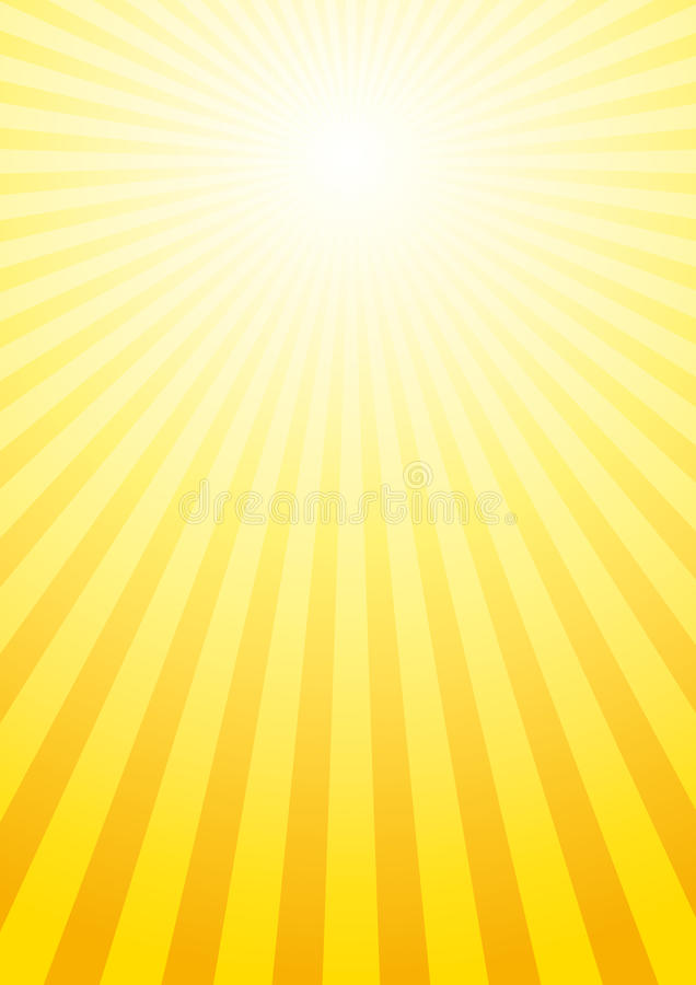 背景光亮的星期日 向量例证