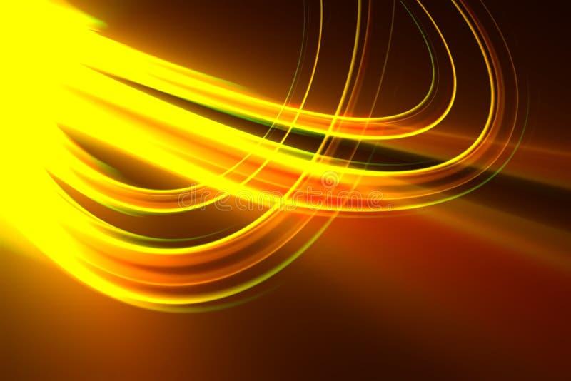 背景光亮的黄色 库存例证