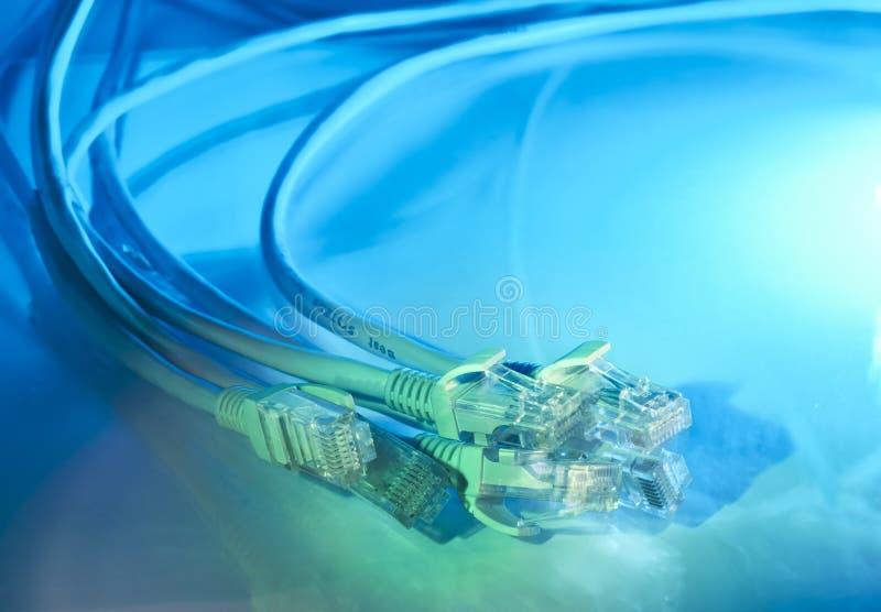 背景光学电缆的纤维 库存照片