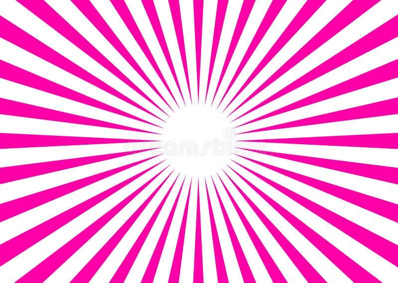 背景光芒向量 库存例证