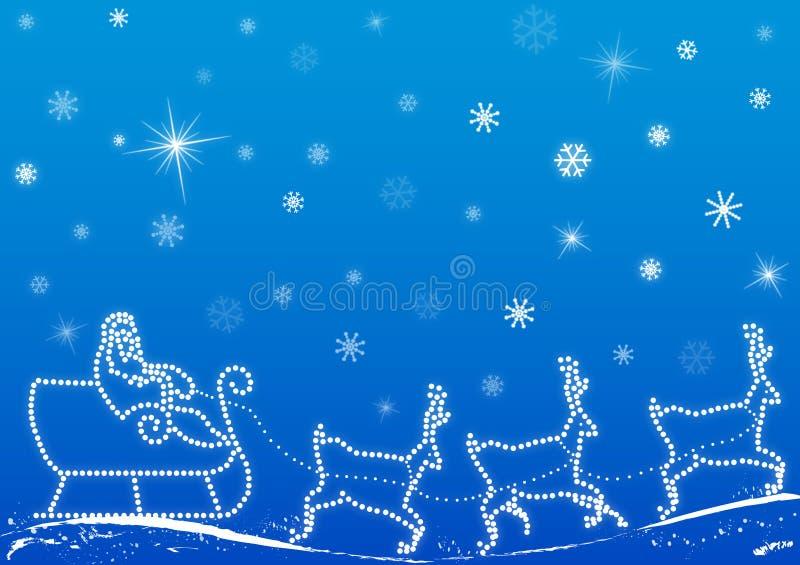 背景克劳斯・圣诞老人向量 库存例证