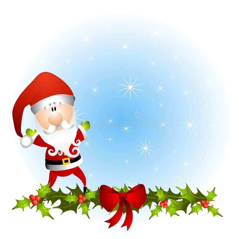 背景克劳斯・圣诞老人 库存例证