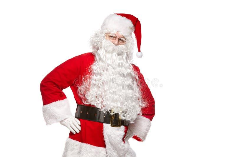 背景克劳斯查出的圣诞老人白色 免版税库存照片