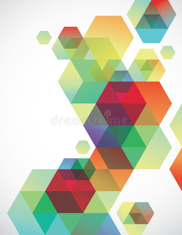 背景六角形 库存例证
