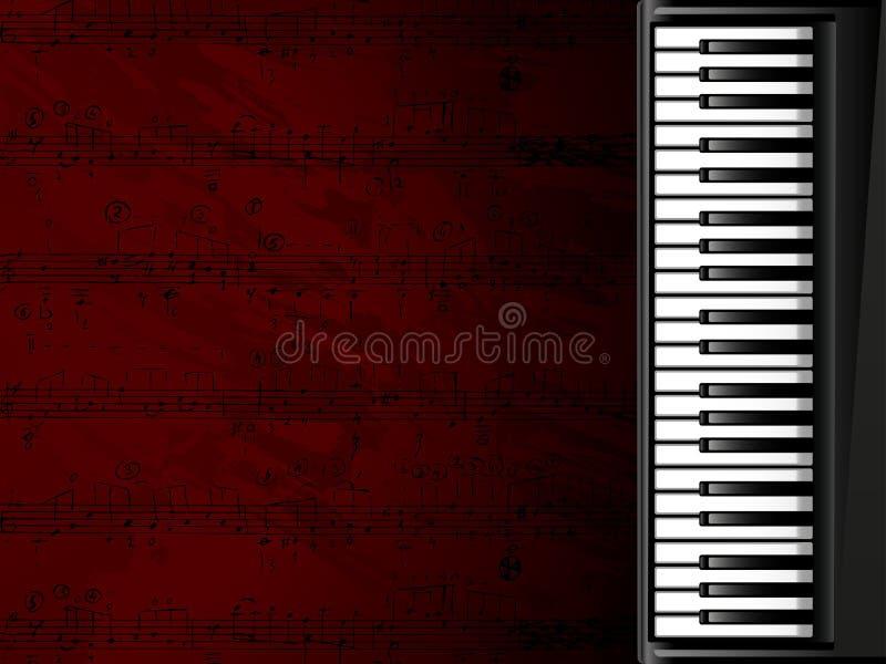 背景关键董事会音乐会钢琴 向量例证