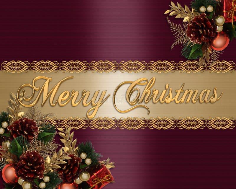 背景典雅看板卡的圣诞节 向量例证