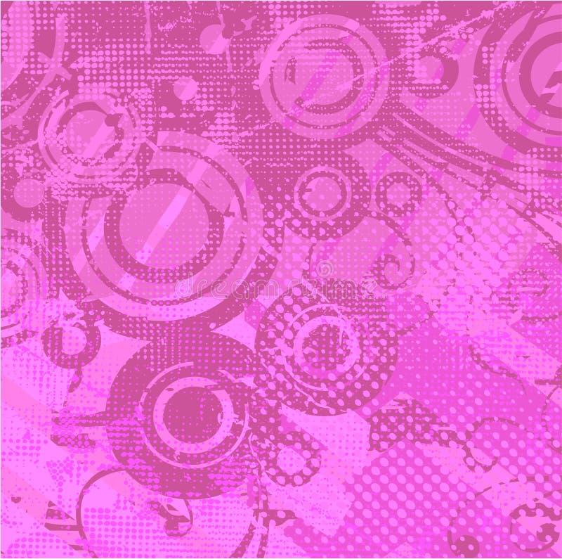 背景减速火箭的向量紫罗兰 库存例证