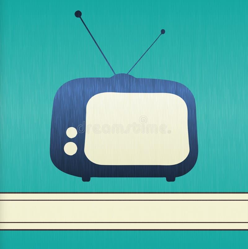 背景减速火箭的电视 向量例证