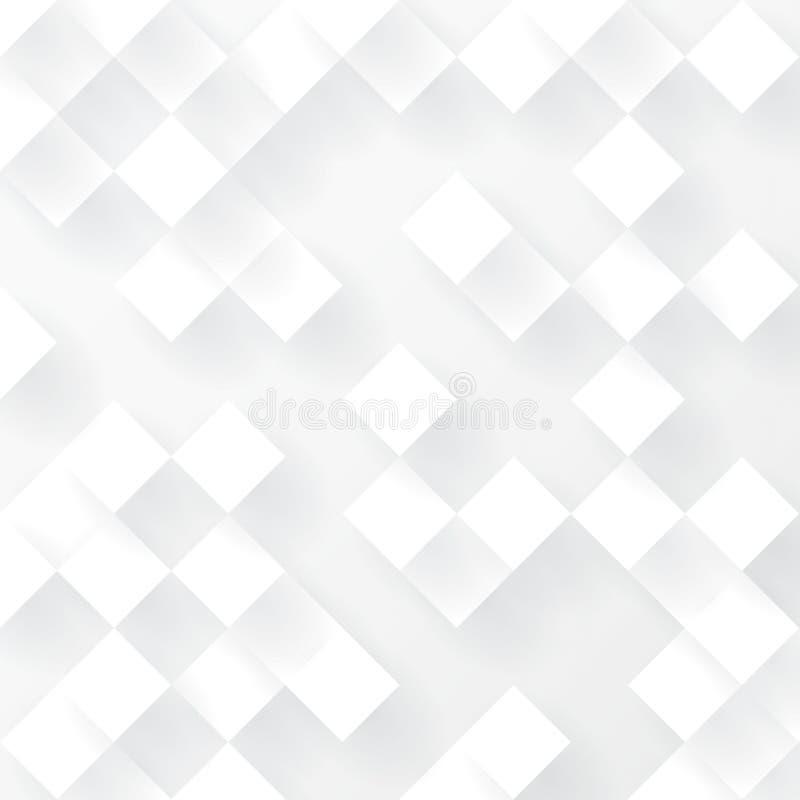 背景几何白色 向量例证