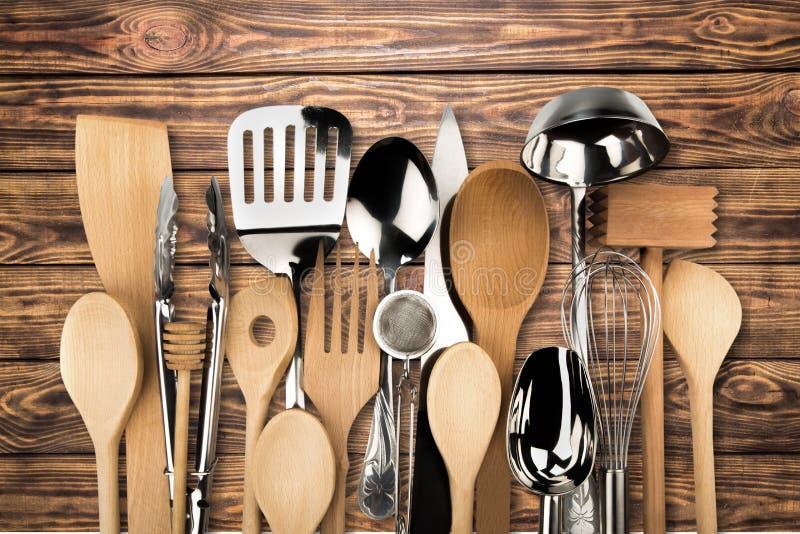 背景分叉厨房六器物白色 免版税图库摄影