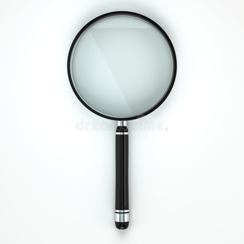 背景剪报玻璃包括的查出的扩大化的路径二白色 3d 皇族释放例证
