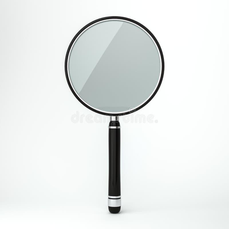 背景剪报玻璃包括的查出的扩大化的路径二白色 3d 向量例证