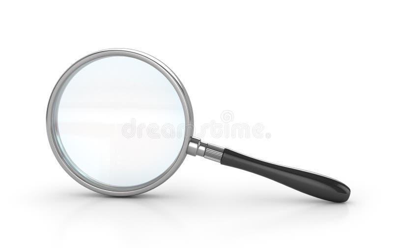 背景剪报玻璃包括的查出的扩大化的路径二白色 库存例证