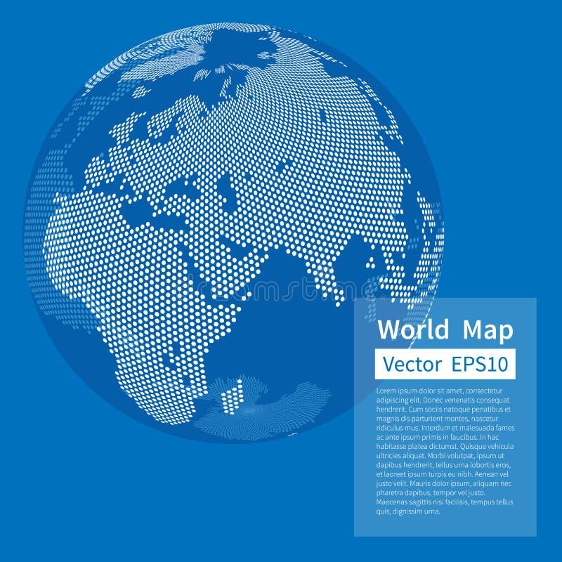 背景加点的映射世界 接地地球 概念全球化查出的白色 皇族释放例证