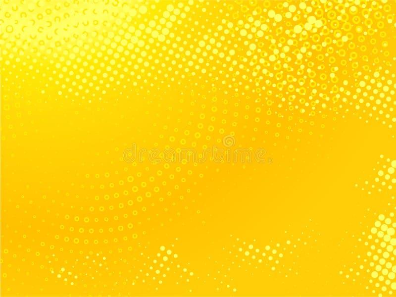 背景加点的黄色 免版税图库摄影
