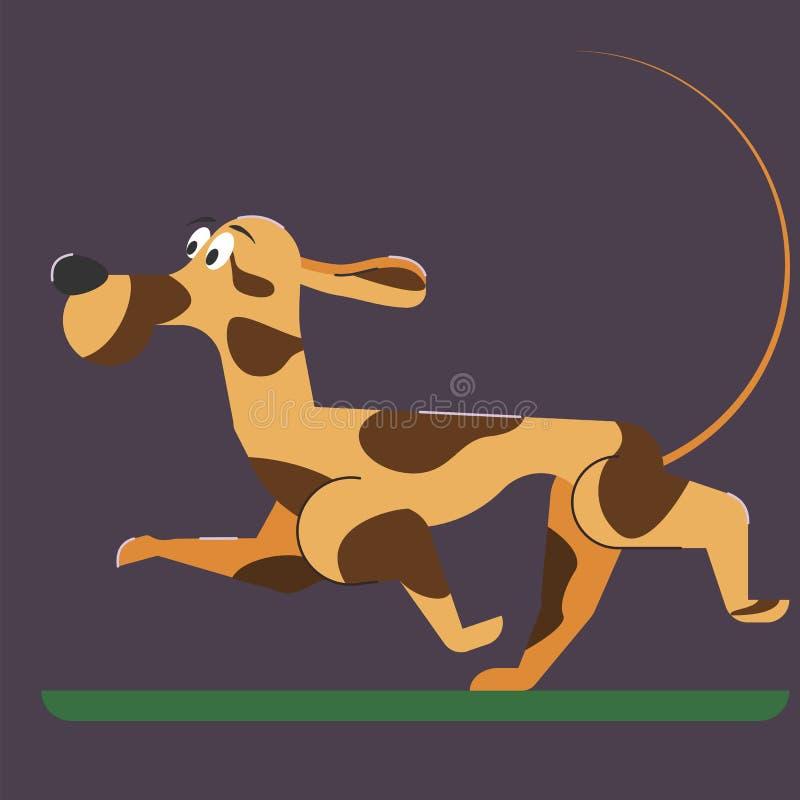 背景动画片设计狗例证 平的样式 免版税图库摄影