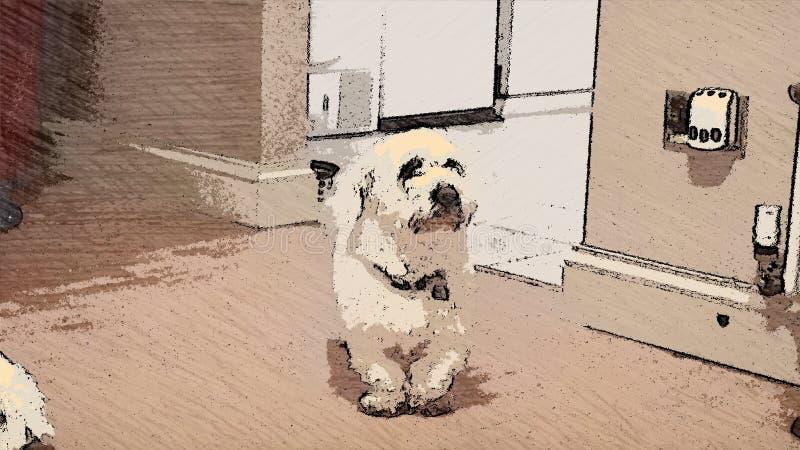 背景动画片设计狗例证 库存图片