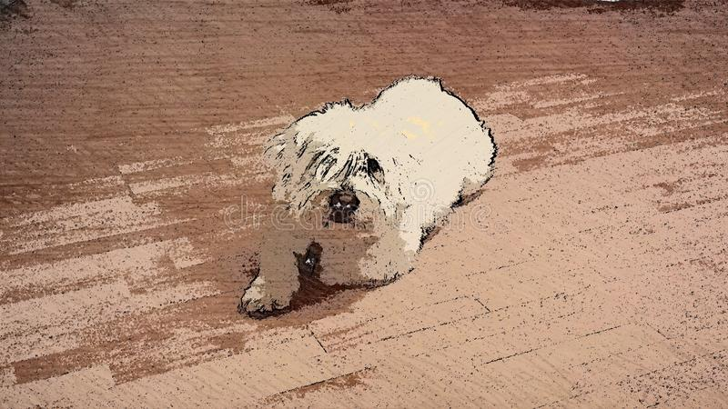 背景动画片设计狗例证 免版税库存图片