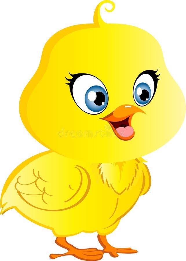 背景动画片鸡例证白色 向量例证