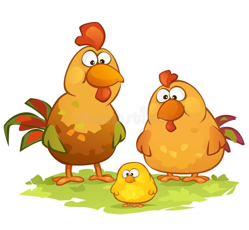 背景动画片鸡例证白色 皇族释放例证