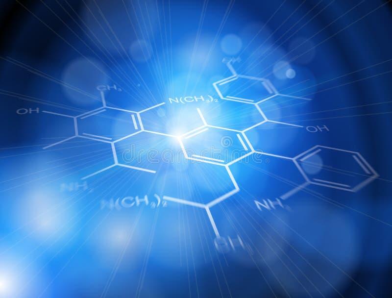背景化学式技术 库存例证