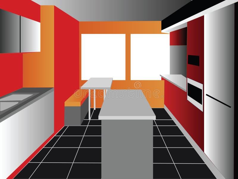 背景厨房 免版税库存照片