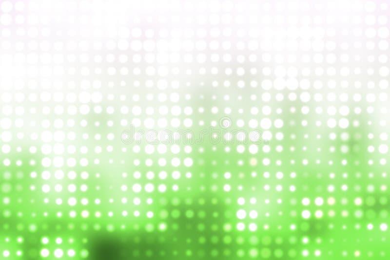 背景发光的绿灯白色 皇族释放例证